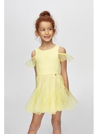 Tyess Kız Çocuk Sarı Elbise Sarı